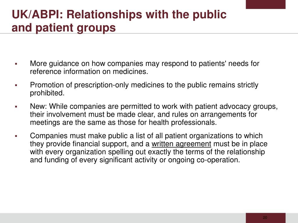 UK/ABPI: Relationships with the public