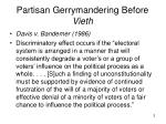 partisan gerrymandering before vieth
