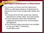 self report assessment of attachment