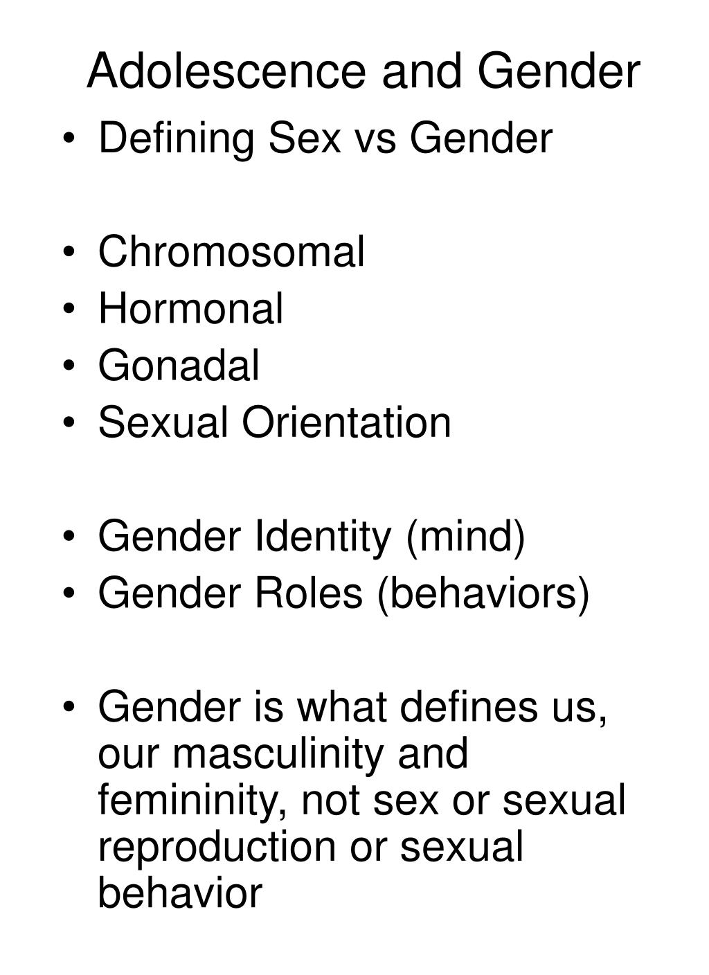 adolescence and gender l.