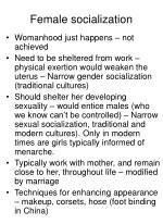 female socialization