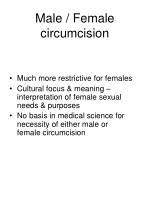 male female circumcision