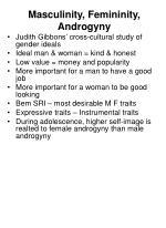 masculinity femininity androgyny