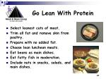 go lean with protein