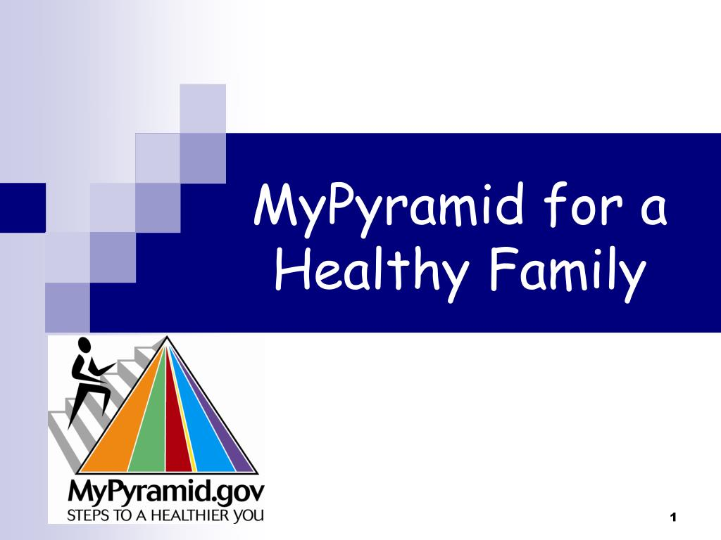 mypyramid for a healthy family l.