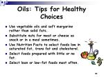 oils tips for healthy choices