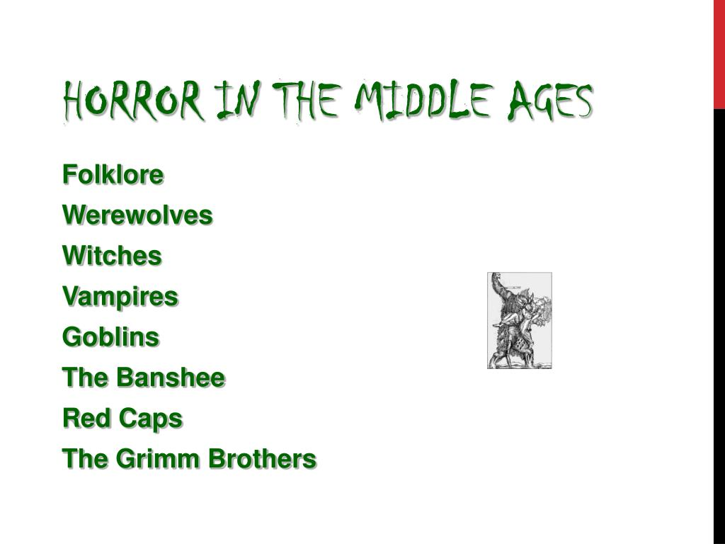 Horror in the Middle Ages