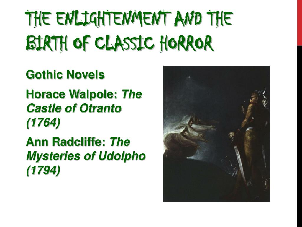 The Enlightenment and the Birth of Classic Horror