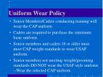 uniform wear policy