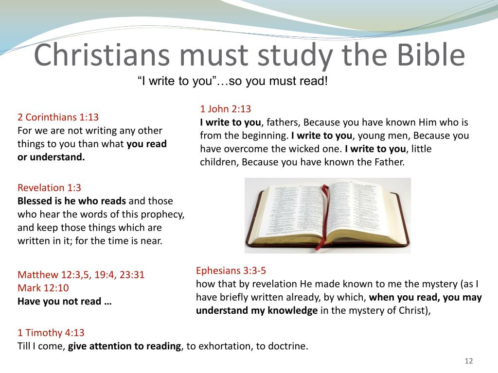 Christians must study the Bible
