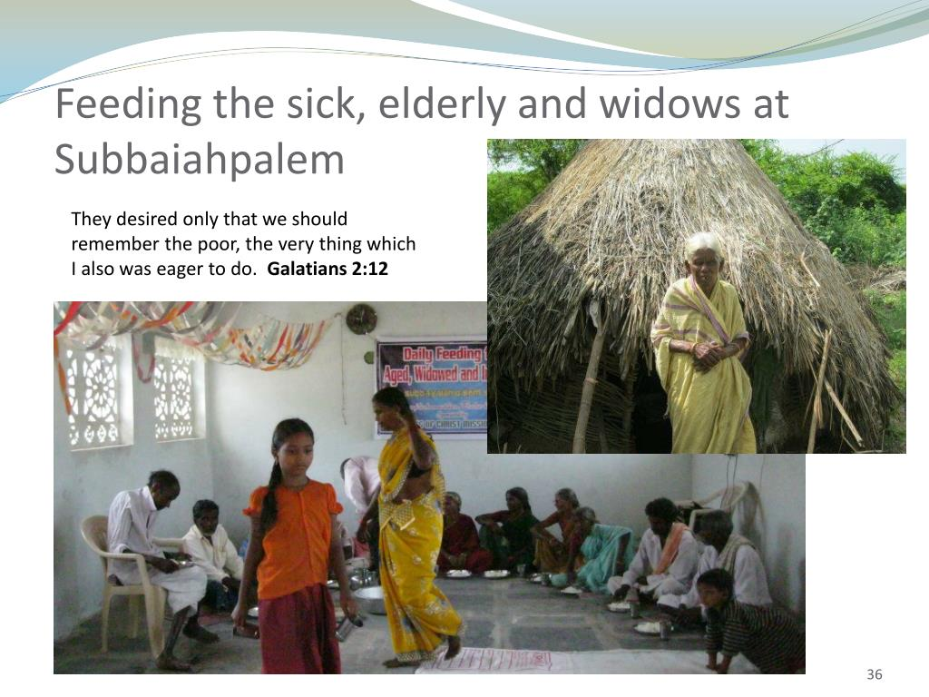 Feeding the sick, elderly and widows at Subbaiahpalem