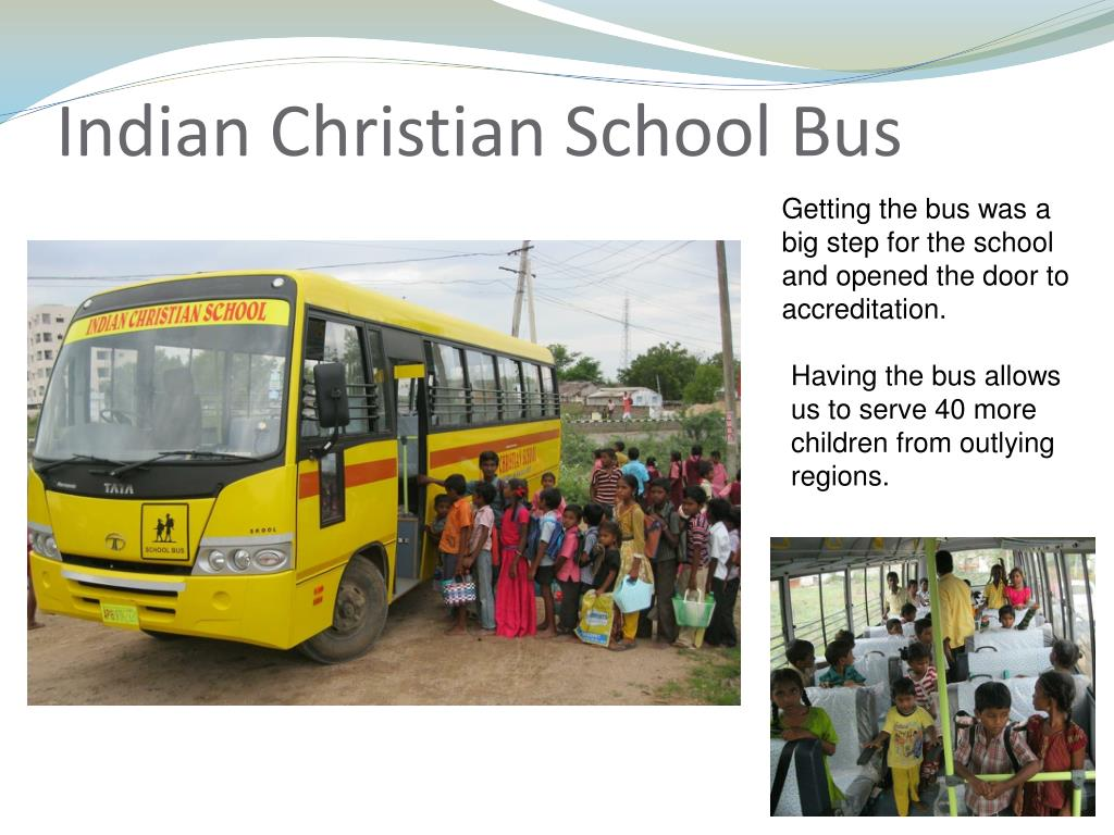 Indian Christian School Bus