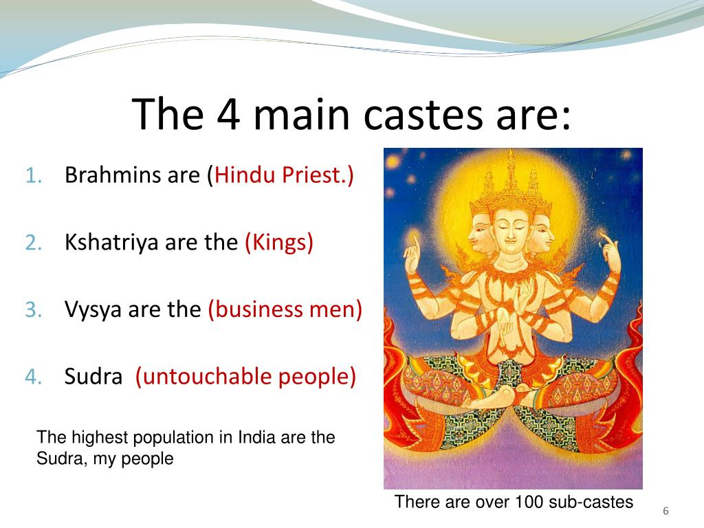 The 4 main castes are: