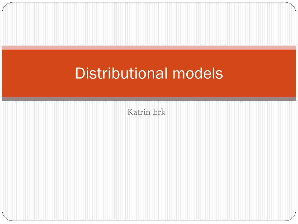 distributional models l.
