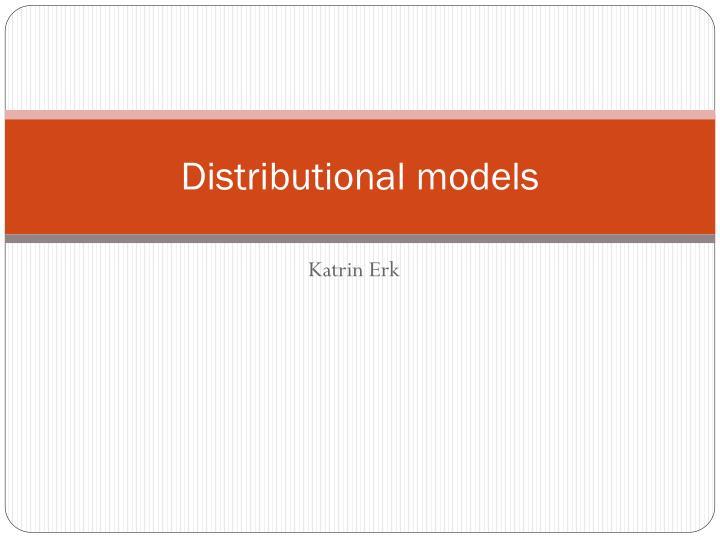 distributional models n.