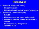 phenotypes
