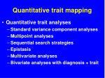 quantitative trait mapping
