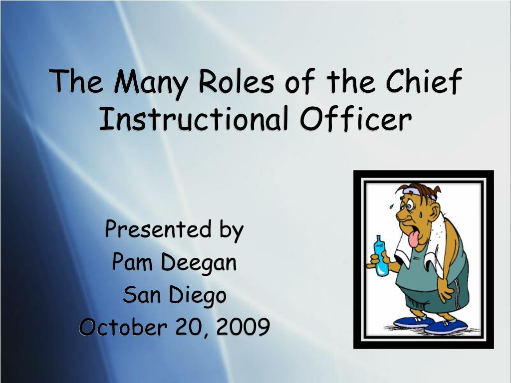 the many roles of the chief instructional officer l.