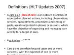definitions hl7 updates 2007