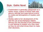 style gothic novel