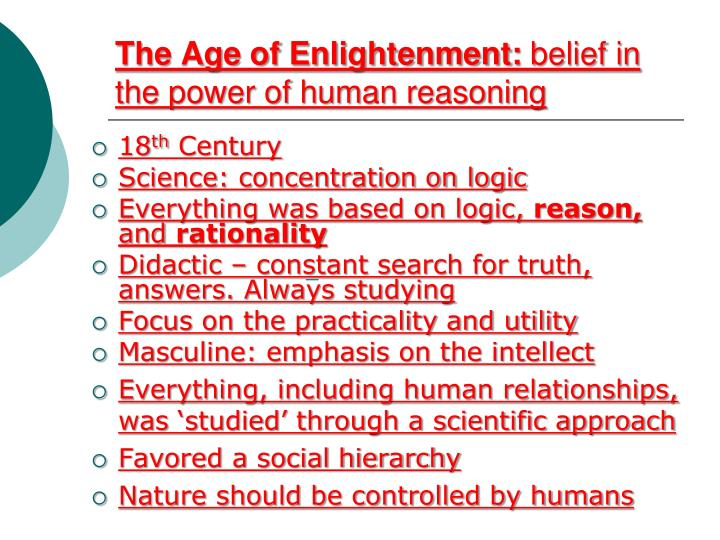 the age of the enlightment analysis The age of enlightenment started in the 18th century and gave people a chance to find reason and truth on their own, without the guidance from others.