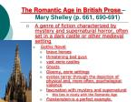 the romantic age in british prose mary shelley p 661 690 691
