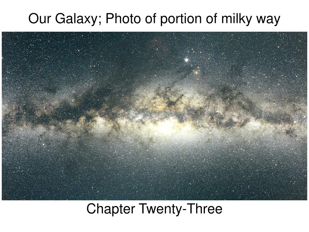 our galaxy photo of portion of milky way l.