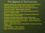 the appeal of technocracy