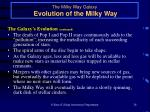 the milky way galaxy evolution of the milky way26