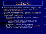 the milky way galaxy interstellar gas19