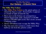 the milky way galaxy our galaxy a quick view