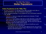 the milky way galaxy stellar populations