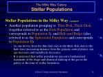 the milky way galaxy stellar populations24