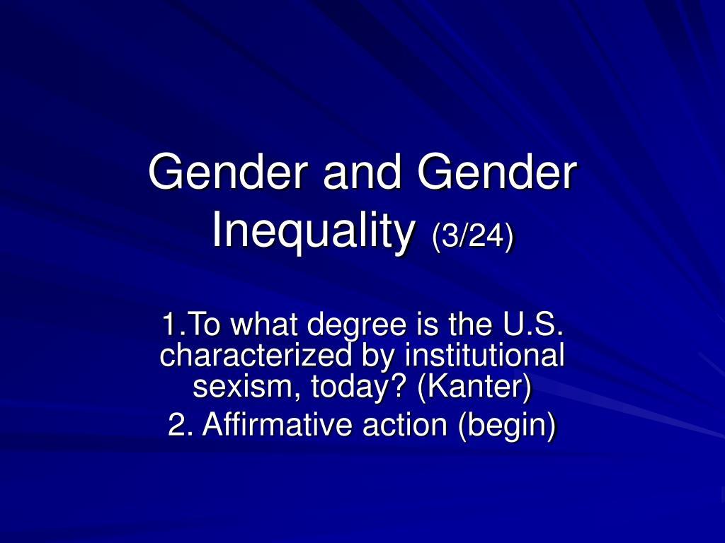 gender and gender inequality 3 24 l.