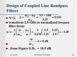 design of coupled line bandpass filters48