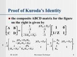 proof of kuroda s identity8