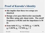 proof of kuroda s identity9