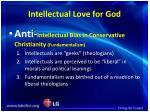 intellectual love for god
