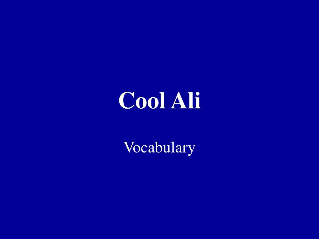 cool ali l.