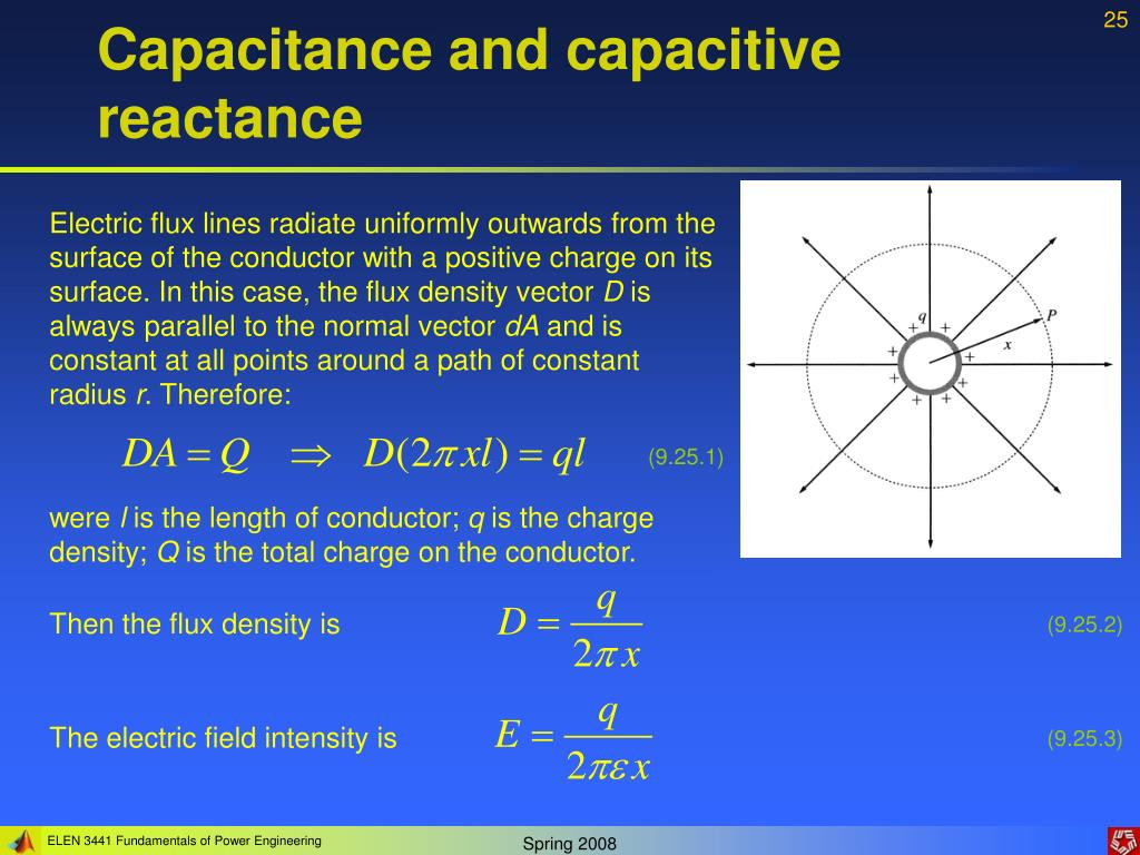 Capacitance and capacitive reactance