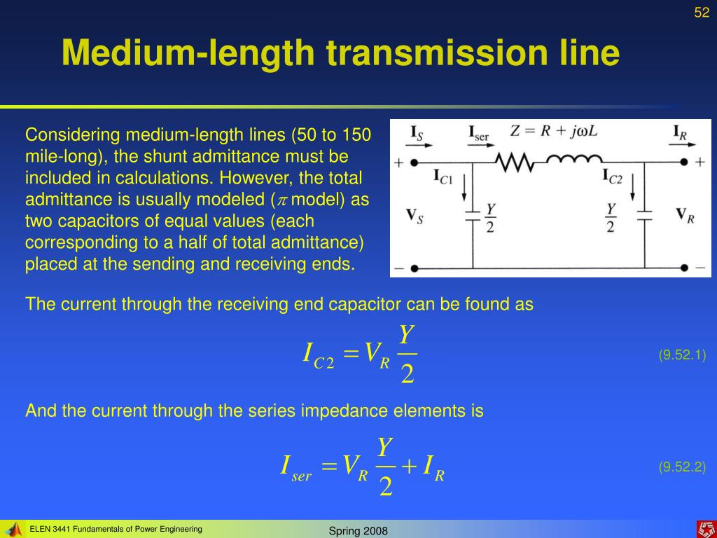 Medium-length transmission line