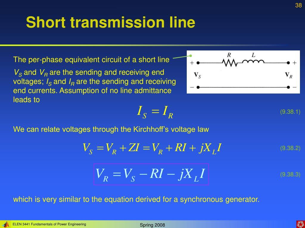 Short transmission line