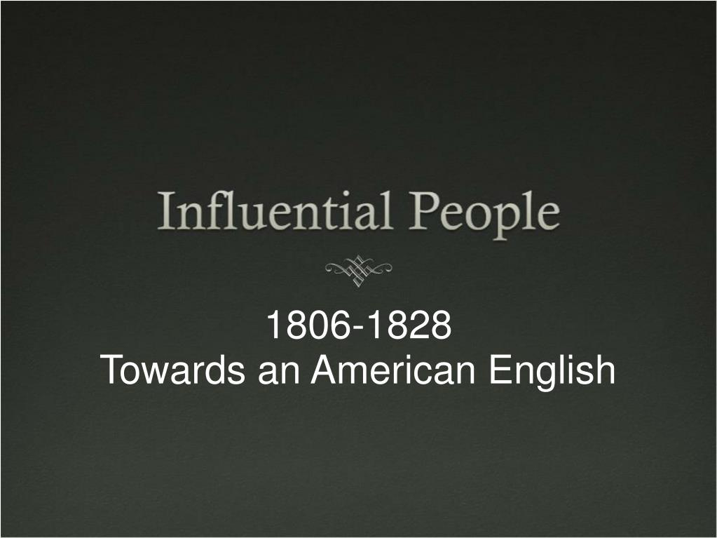 1806 1828 towards an american english l.