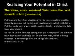 realizing your potential in christ