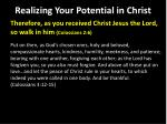 realizing your potential in christ17