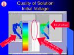 quality of solution initial voltage