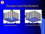 sample load distributions