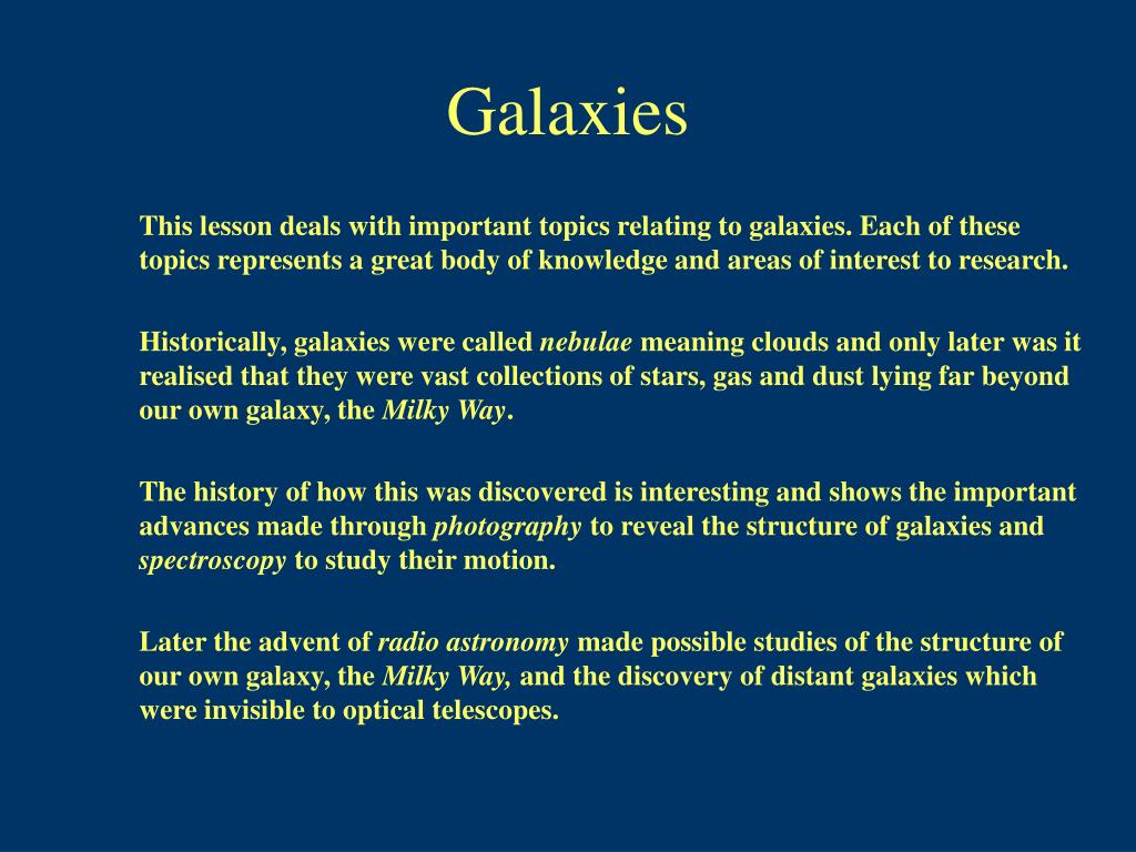 galaxies l.
