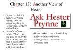 ch a pter 13 a nother view of hester