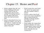 ch a pter 15 hester and pe a rl